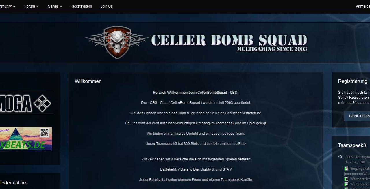 Neue =CBS= Homepage